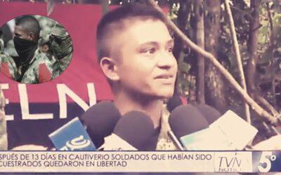 """SOLDADO DESPUÉS DE SER LIBERADO POR EL GRUPO GUERRILLERO ELN: """"YA ME ESTABA ENCARIÑANDO CON ELLOS"""""""