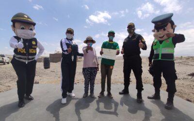 Arequipa: Niño con capacidades especiales recibe apoyo del Club de Menores de la PNP