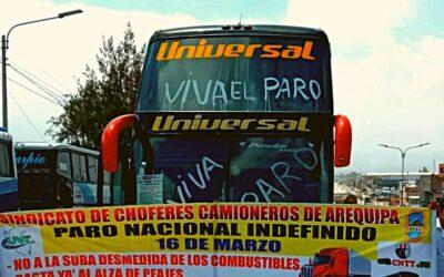 TRANSPORTISTAS PROTESTAN CONTRA LA SUBA DE COMBUSTIBLE Y OTROS CAMBIOS EN ESTE SECTOR