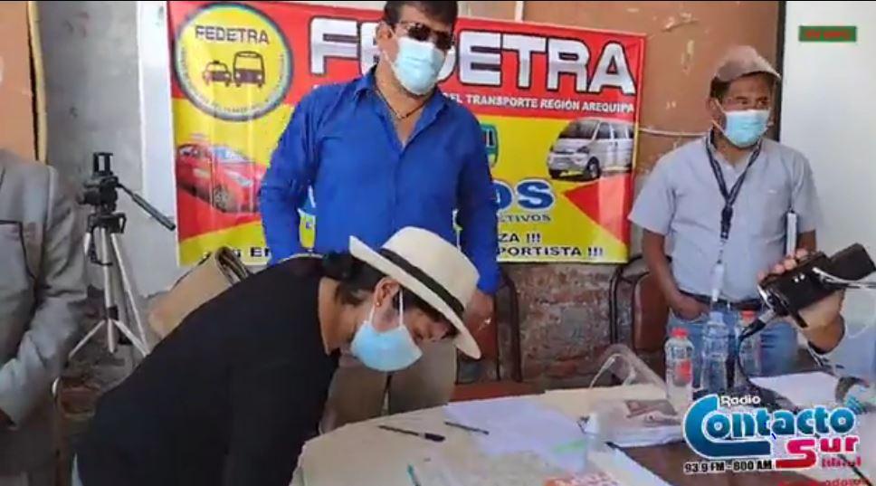 Arequipa: Transportistas independientes piden la derogatoria de 3 ordenanzas municipales