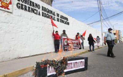 Arequipa: Profesores del SUTEP piden destitución del Gerente de Educación por inicio de clases semipresenciales