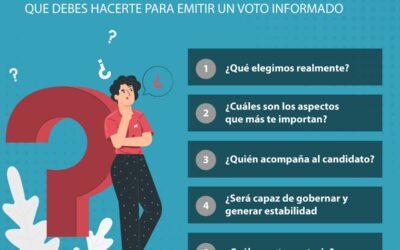 #HablaCADE: CINCO PREGUNTAS QUE DEBES HACERTE PARA EMITIR UN VOTO INFORMADO