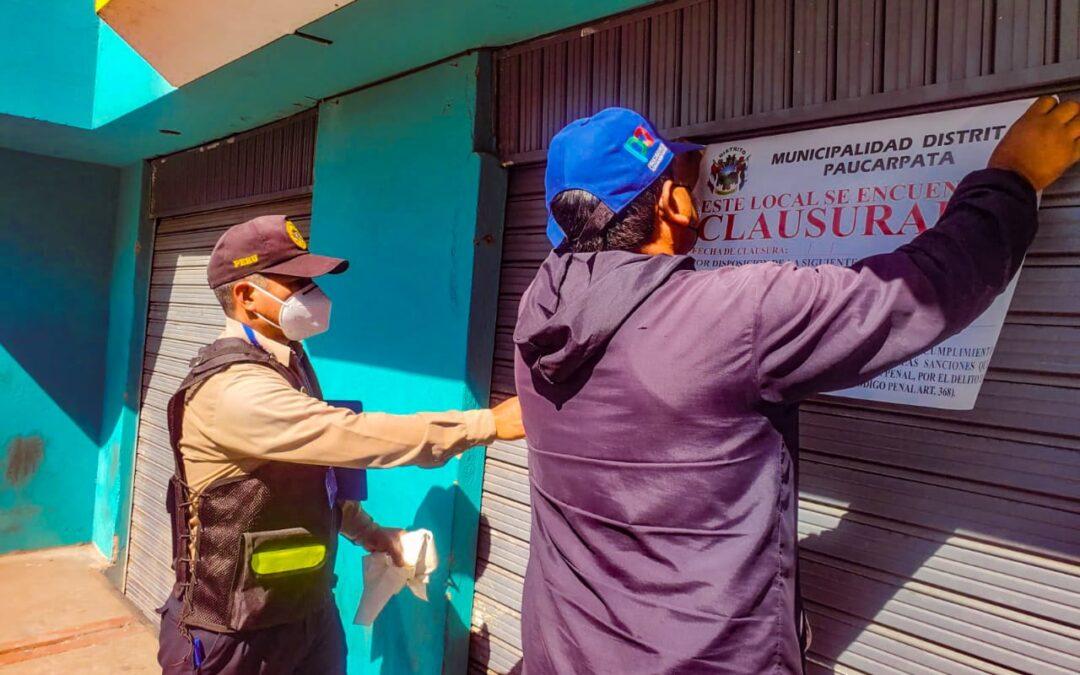 Arequipa: 10 locales fueron cerrados por no contar con licencia de funcionamiento en Paucarpata