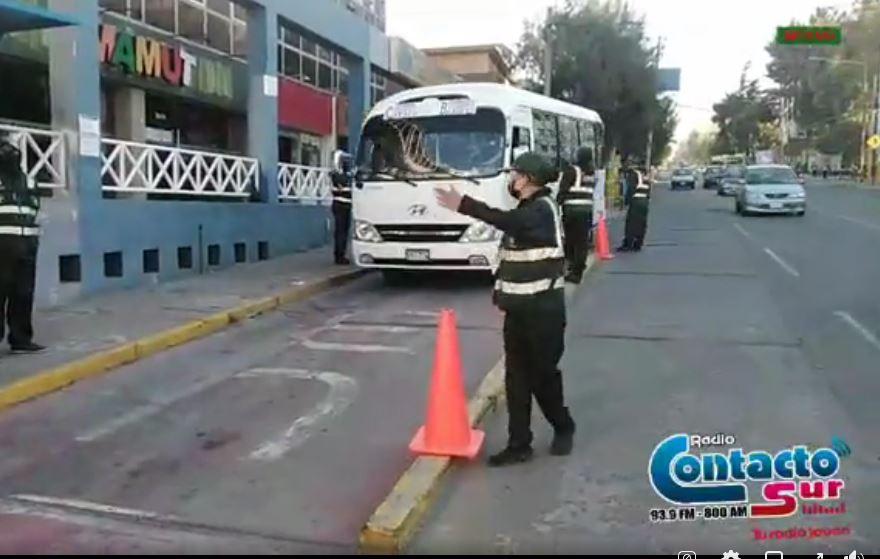Arequipa: Realizan operativo de control de protector facial y barbijo