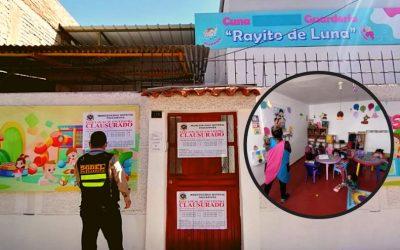 CLAUSURAN GUARDERÍA QUE ATENDÍA PRESENCIALMENTE EN PAUCARPATA