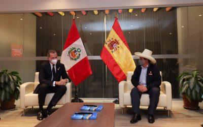 PEDRO CASTILLO SE REUNIÓ CON REY DE ESPAÑA FELIPE VI
